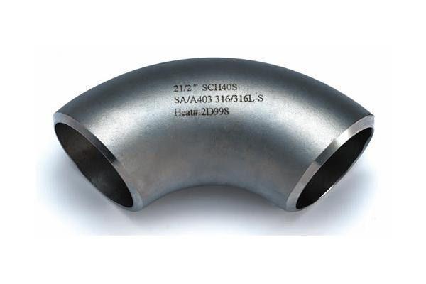 Отвод для воды нержавеющий 90 градусов Марка AISI 316 L
